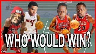 WHO WOULD WIN? LEBRON & DWADE OR JORDAN & PIPPEN?! - NBA 2K16 Head to Head Blacktop Gameplay