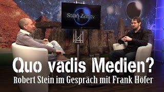 Quo vadis Medien? Frank Höfer bei SteinZeit