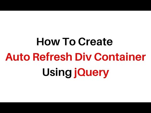 auto refresh particular specific div using jquery 3.3.1