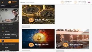 WORLD MINING Обзор   БОНУС 30 Ghs   Облачный майнинг   new 2017 2018
