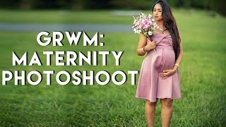 Get Ready With Me For Maternity Photoshoot + Outfit Pictures