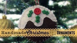 Making Handmade Christmas Felt Ornaments!
