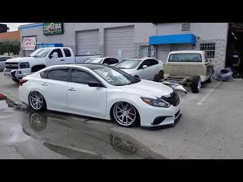 """877-544-8473 20"""" Ferrada FR-2 Silver Wheels Nissan Altima Bagged Concave Rims Q50 DUBSandTIRES.com"""