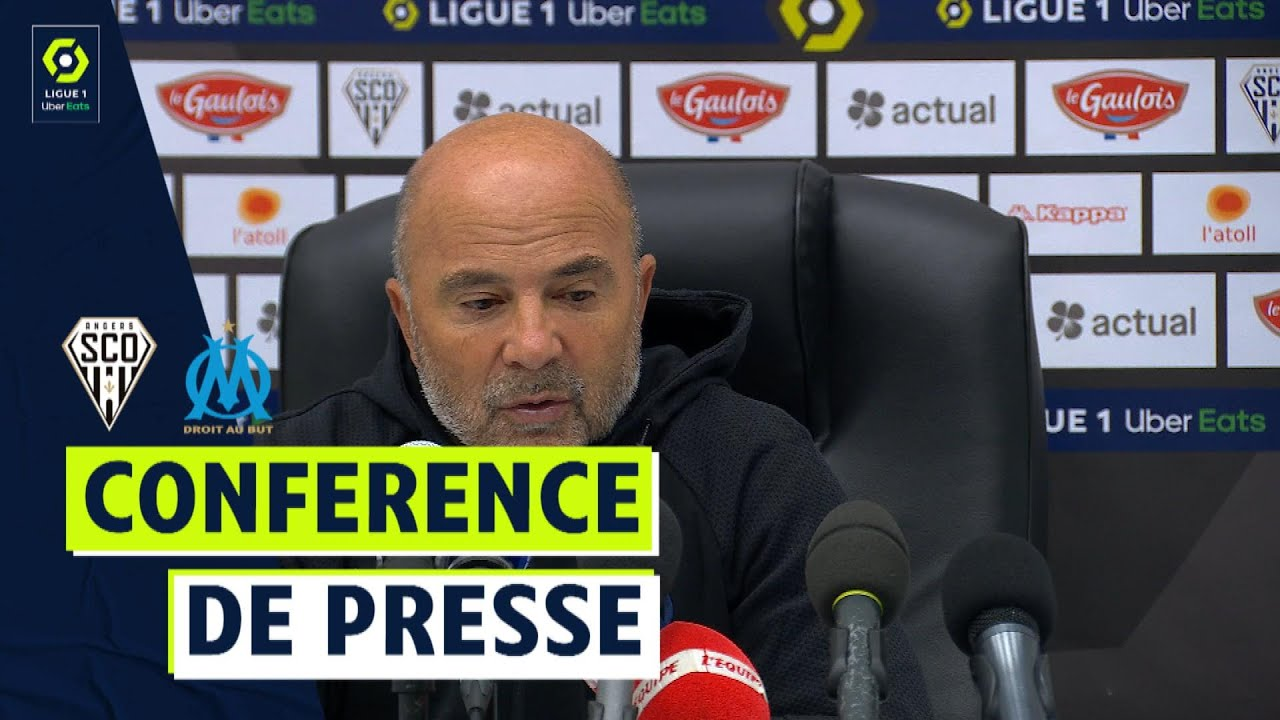 Conférence de presse ANGERS SCO - OLYMPIQUE DE MARSEILLE (0-0)  / 2021/2022