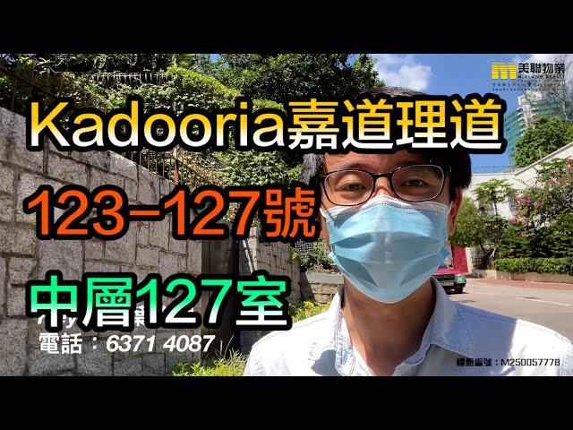 【代理Key推介】Kadooria嘉道理道123-127號中層127室