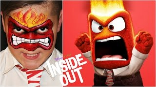 """Inside Out"" Anger — Face Painting & Makeup Tutorial"