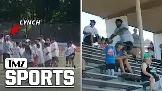 Marshawn Lynchs On-Field Confrontation With Camp Mom Caught On Video