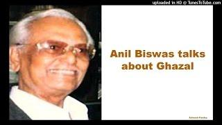 Anil Biswas talks on Ghazals - YouTube