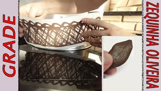 Grade e Folha de Chocolate passo a passo