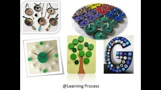 10 Ways To Reuse Or Recycle Old Plastic Bottle Caps | Learning Process