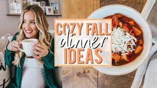 COZY FALL DINNER IDEAS | HEALTHY + EASY | Becca Bristow