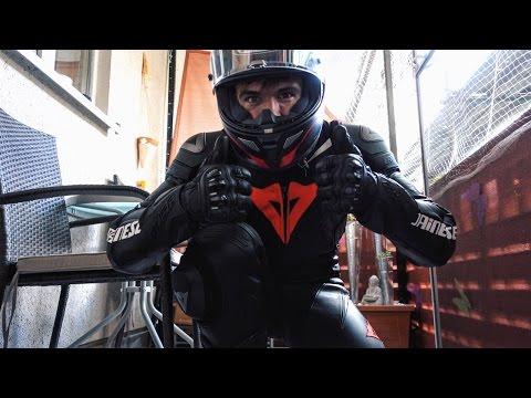 Meine Ausrüstung   Dainese Lederkombi   HJC Helm