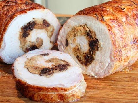How to Stuff a Pork Loin – Rolled Stuffed Pork Loin Roast Wrapped in Caul Fat