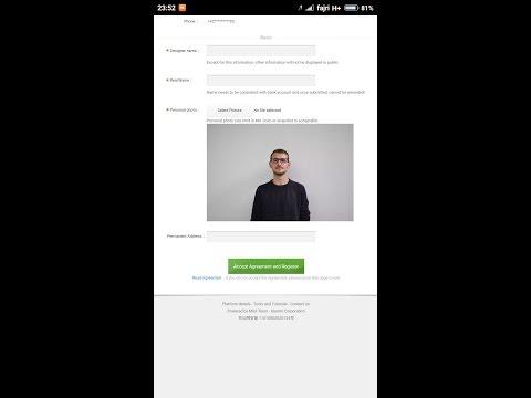Video Cara daftar MIUI designer