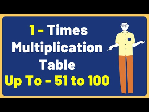 1 Times Multiplication Table up to 51 to 100| Multiplication Time Table with Audio