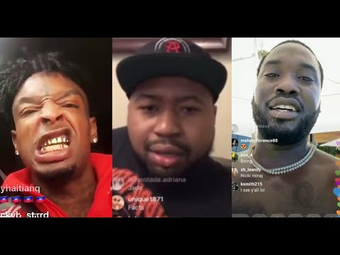 21 Savage Meek Mill Confront Akademik With Flame On Clubhouse App For Instigating Rap Beef