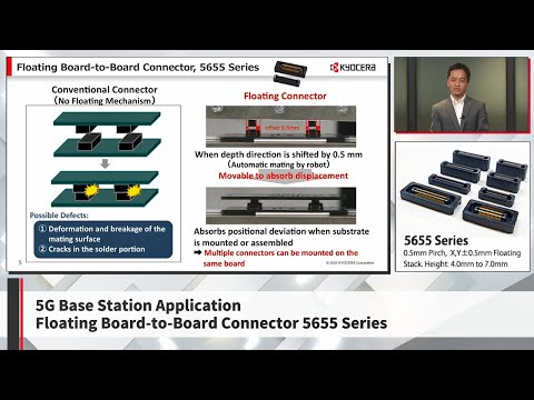 Kyocera's Floating Board-to-Board Connector for 5G base stations (5655 Series)
