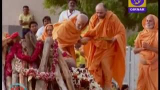 Pramukh Swami 's funeral at BAPS Sarangpur Temple, Gujarat