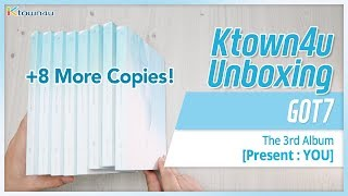 [Ktown4u Unboxing] GOT7 - Present: YOU - Unboxing 8 more copies!!