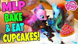 MY LITTLE PONY BAKING CUPCAKES PARTY AND EATING THEM MESSY FUN! | Mommy Etc