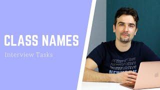 Задача с frontend собеседования: Class Names | Разбор решения на JS