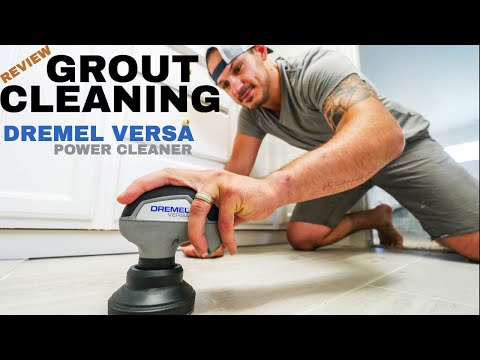 EASIEST Tile Grout Cleaning with Dremel VERSA Power (REVIEW) // VLOG 038