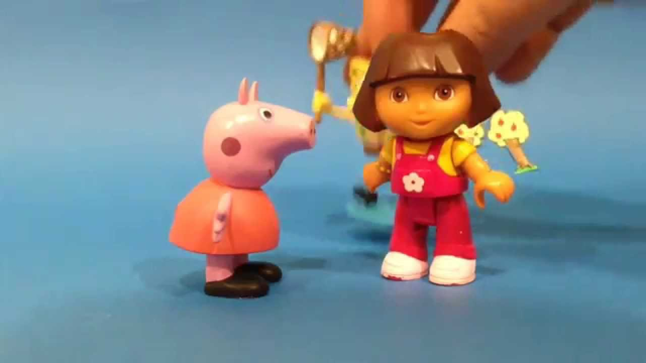 Peppa Pig, Dora la Exploradora, y sus películas.