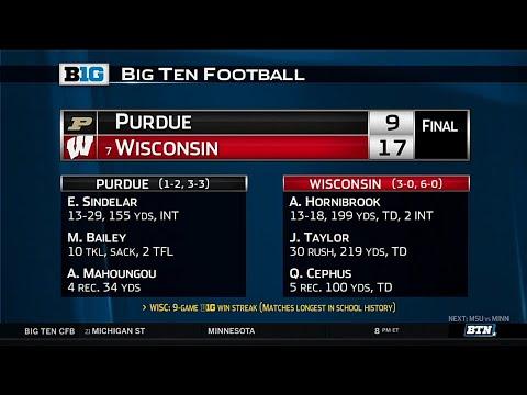 Purdue at Wisconsin - Football Highlights