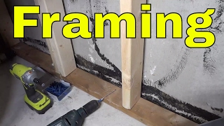 Attaching Basement Framing To A Concrete Floor-DIY