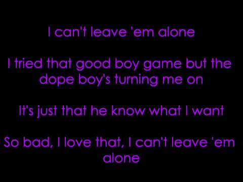 Ciara Feat. 50 Cent - Can't Leave 'Em Alone Lyrics.