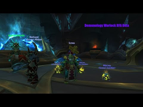 BFA BETA Demonology Warlock [WAYCREST MANOR] Battle for