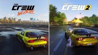 The Crew Wild Run vs The Crew 2 - Early Graphics & Sound Comparison Part 1