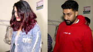 Aishwarya Rai Bachchan and Abhishek Bachchan Watch Fanney Khan at Juhu PVR
