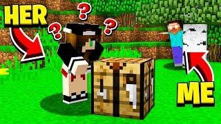 SHE **FREAKED** when SHE SAW HEROBRINE in Minecraft!