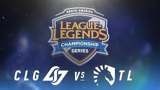 CLG vs. TL - Week 5 Day 1   NA LCS Spring Split   Counter Logic Gaming vs. Team Liquid (2018)
