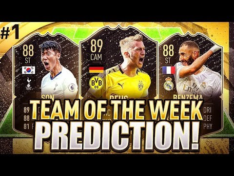 FIFA 20 INSANE FIRST TEAM OF THE WEEK POTENTIAL! TOTW1 PREDICTIONS! FIFA 20 Ultimate Team
