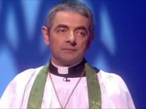 Rowan Atkinson (Mr Bean) in religious comedy sketches