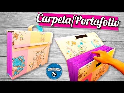 DIY | Carpeta/Portafolio Reciclando Cartón | PumitaNegraArt🐾