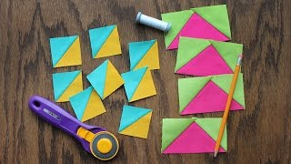 Tips To Make Pain-Free Triangle-Squares And Flying Geese