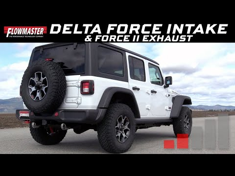 2018-20 Jeep Wrangler JL 3.6L - Delta Force Air Intake 615183/Force II Exhaust System 817804