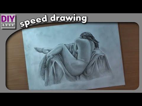N*de Woman Speed Drawing - Woman Akt - Pencil Drawing
