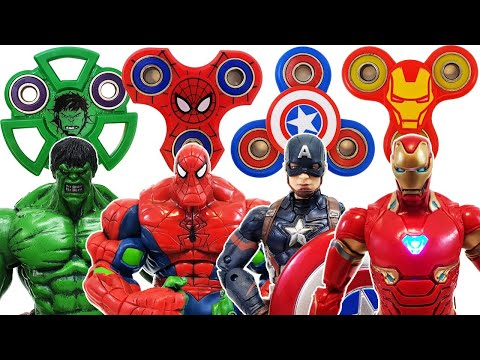 Spider-Man & Avengers, Fidget Spinner Go~! Hulk, Iron Man, Captain America, Bumblebee, Transformer