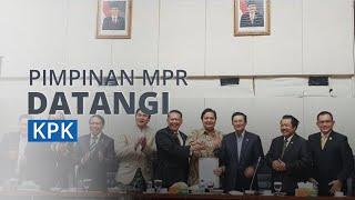 Tujuh Pimpinan MPR Sambangi KPK, Klarifikasi Hambatan dari UU yang Baru