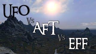 Skyrim Mod Comparison - UFO Vs. AFT Vs. EFF