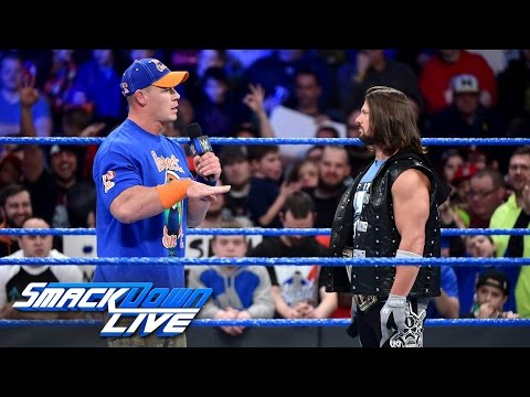 AJ Styles calls out John Cena: SmackDown LIVE, Jan. 24, 2017