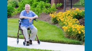 Lumex® Walkabout Lite Four Wheel Rollator Youtube Video Link