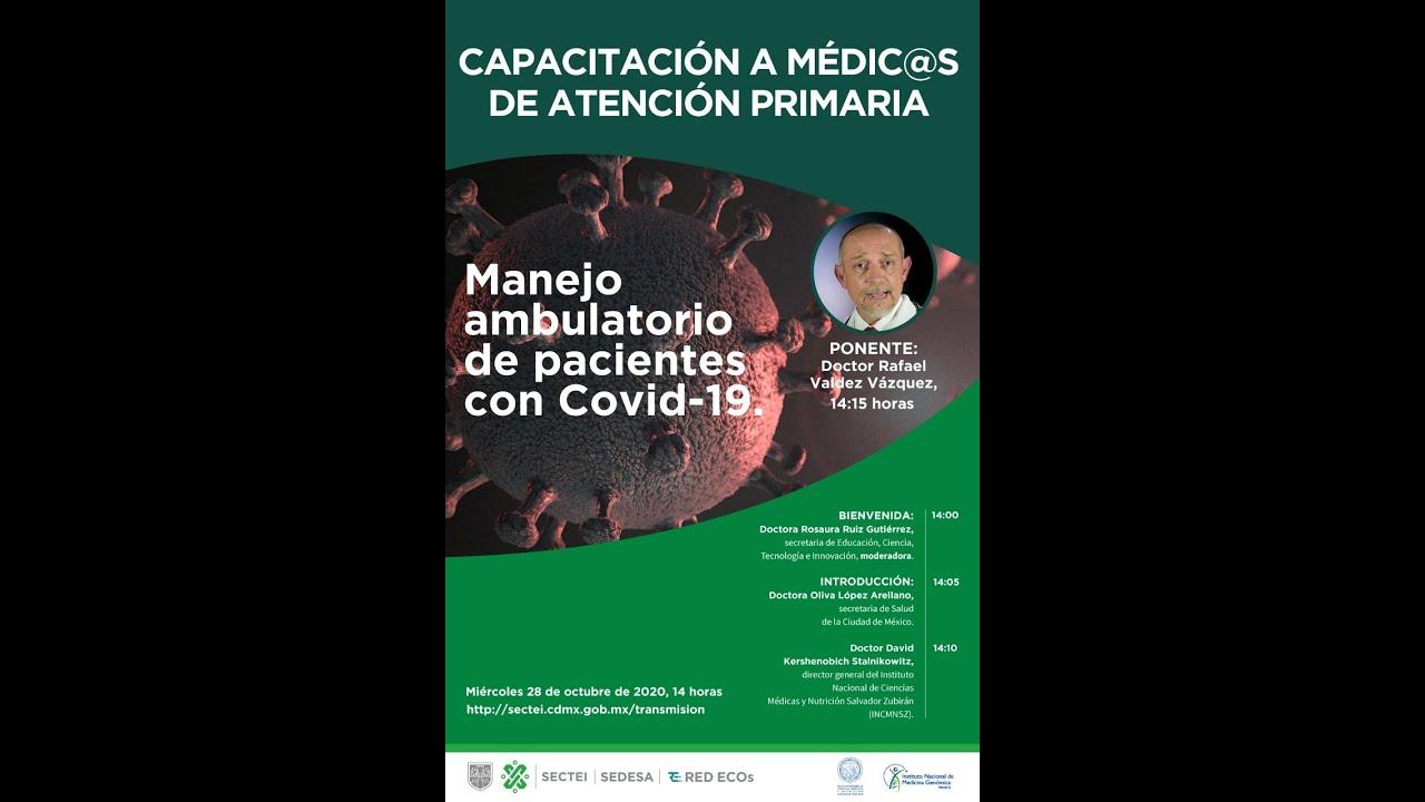Webinar: Atención oportuna y prevención de complicaciones en pacientes con COVID-19