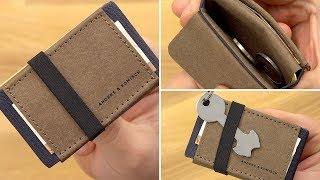 """Sehr clever! Slim Wallet """"AK Mini"""" mit Schlüsselhalter von Anders & Komisch // DEUTSCH"""