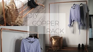 DIY Copper Pipe Clothing Rack!! || TheAdeTomi