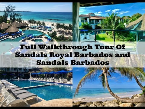 Full Walkthrough Tour Of Sandals Royal Barbados and Sandals Barbados - September 2019